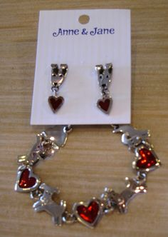 Show your mother how much you love her and her pooch this Mother's Day by giving her this handcrafted bracelet and earring set by Anne & Jane!