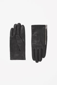 ZIP-UP LEATHER GLOVES