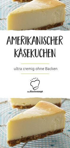 Amerikanischer Käsekuchen American cheesecake - or American cheesecake - does not come straight from the oven to the table, but is left in the refrigerator after cooling overnight. Dessert Simple, Bon Dessert, Light Desserts, Easy Desserts, Dessert Recipes, American Cheesecake, Christmas Desserts Easy, Christmas Christmas, Christmas Recipes
