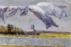 Gustave Caillebotte, Drogende was, Petit Gennevilliers, 1888, olieverf op doek, 54 x 65 cm, particuliere collectie