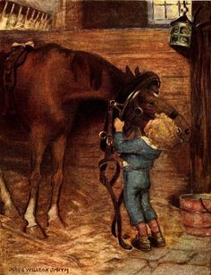 Child with Horse - Jessie Willcox Smith Illustration 1919