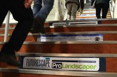 Testimonial's from leading industry figures on the stairs to the seminar rooms