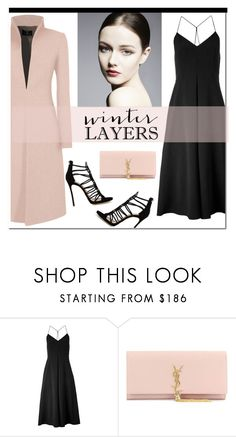 """""""Slip Dress"""" by hajni0103 ❤ liked on Polyvore featuring Whistles, Yves Saint Laurent, Dsquared2, women's clothing, women's fashion, women, female, woman, misses and juniors"""