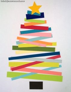 ▷ schöne Weihnachtskarten selber basteln - bastelideen farbenfroh weihnachten bunt papier reste Imágenes efectivas que le proporcionamos sobre - Kids Crafts, Christmas Crafts For Kids To Make, Crafts For Seniors, Christmas Tree Crafts, Handmade Christmas, Holiday Crafts, Christmas Paper, Xmas Trees, Preschool Christmas