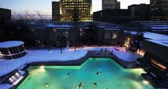 Outdoor pool of the Hilton Montreal Bonaventure Montreal Hotel, Quebec, Canada Hotel Montreal, Montreal Travel, Montreal Quebec, Quebec City, Best Hotel Deals, Best Hotels, Montreal With Kids, Montreal In Winter, Destinations
