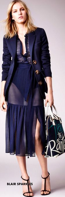 ♕♚εїз | BLAIR SPARKLES RESORT 2015 Burberry Prorsum