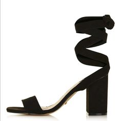 Topshop Rapping Ankle Strap Sandal