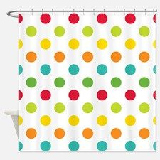 Polka Dots Shower Curtain For