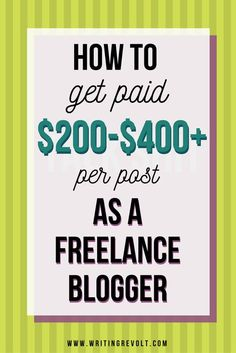 Want to get paid the big bucks for your freelance blogging work? Check out this post + video to learn EXACTLY what you need to do to make it happen! | freelance writing tips | freelance writing for beginners | writing articles for money | getting paid to write articles | make money freelance writing | make money writing online |