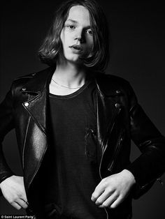 Model citizen: Jack Kilmer, the 19-year-old son of actor Val Kilmer, is the face of Saint Laurent's latest campaign