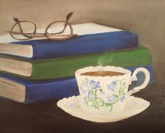 Still Life Painting Oil on Canvas A Cuppa And A di MeaghanLouise