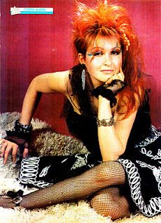 Cyndi Lauper....yes people I went had my hair cut just like her when I was 10-11 years old.