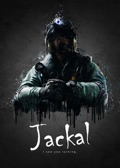"""Rainbow Six Siege Characters Jackal #Displate artwork by artist """"TraXim"""". Part of a 33-piece set featuring artwork based on characters from the popular Rainbow Six video game. £37 / $49 per poster (Regular size), £74 / $98 per poster (Large size) #RainbowSix #RainbowSixSiege #TomClancy #TomClancysRainbowSix #Rainbow6 #Rainbow6Siege #TomClancysRainbow6 #Ubisoft"""