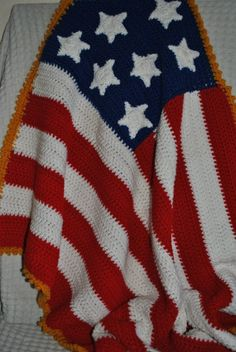 Flag Blanket by DiapersByTheSlice