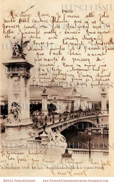 Vintage paris postcard - If I could only read French.