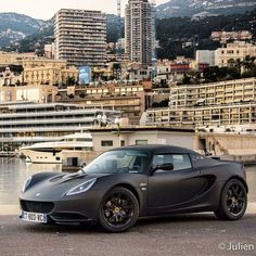 A new friend in Monaco! #ItsWhiteNoise @sebdelanney's #Lotus @julienplas
