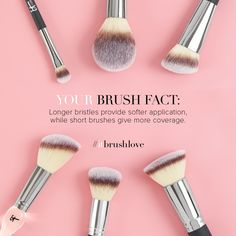 Knowing which makeup brush to use helps you achieve the best results!
