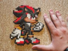 Shadow Sonic hama beads by CrazyHamaGuyBeads