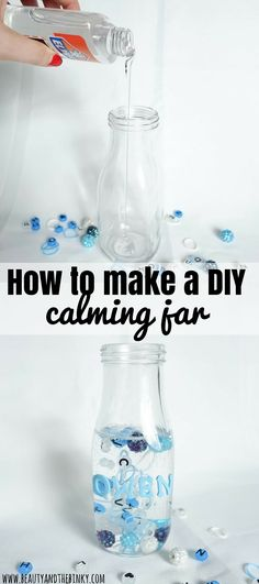 How to Make a DIY Calming Jar and a #MothersPromise of Patience | Beauty and the Binky blog | @pampers, @walmart, calm down jar, patience, toddler, craft, time out, alphabet beads, glow in the dark