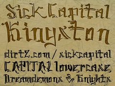 Cool Tattoo Fonts: Elegant SickCapital Kingston Tattoo Font ~ tattoosartdesigns.com Tattoo Ideas Inspiration