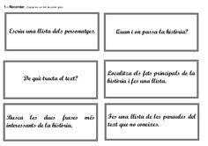 Targetes de Comprensió lectora. Text Narratiu by Beatriu Palau via slideshare