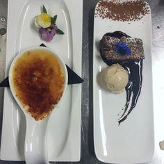 Creme Brulee & Chocolate Brownie Kids Menu, Hotel Guest, Bar Grill, Creme Brulee, Chocolate Brownies, Prawn, Seafood, Grilling, Restaurant