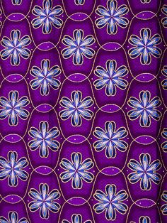 Purple African Fabric