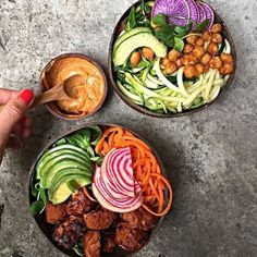 #healthyfood #healthy #health #diet #weightloss Love these delicious bowls!  Thanks @food_without_regrets for sharing! #foodporn #food #foodie #workout #fitness #healthyliving #foodstagram #nomnom #fitlife