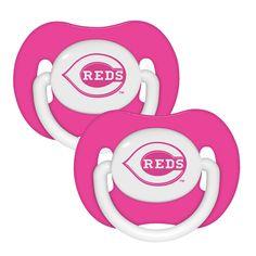 2 Pack Pink Pacifiers - Cincinnati Reds