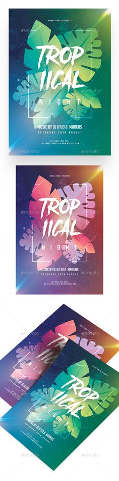 Tropical Night Party Flyer