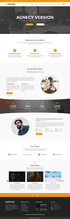 Ducat is clean and modern design responsive multipurpose WordPress #template for stunning #agencies website with 35+ niche homepage layouts to live preview & download click on Visit
