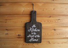 Custom Hand Lettered Kitchen Word Art, Urban Barn Home Decor, Hand Lettering, cutting board kitchen art, rustic cutting board decor, kitchen
