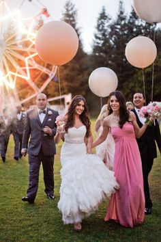 We love Valerie + Michael's playful, carnival inspired #wedding, featuring BLACK by Vera Wang tuxedos! http://mensw.com/Oa1JRJ