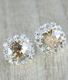 Champagne earringChampagne crystal
