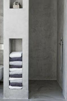 Walk in shower with storage
