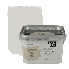 KARWEI Kleuren van Nu muurverf mat warmgrijs 2,5 l kopen? Verfraai je huis & tuin met Muurverf kleur van KARWEI