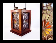 Luz del Sol  Stained Glass Lantern by smashglassworks on Etsy