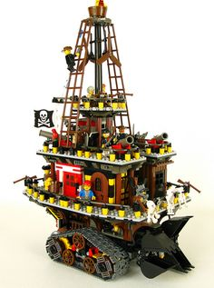 Another Philip Reeve inspired creation: Pirate traction city - Salthook by DeGobbi, via Flickr