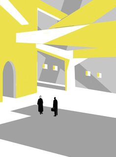 Il Tetro Taciturno, Illustration by SHOUT for Internazionale Magazine ::: www.dutchuncle.co.uk/shout-images