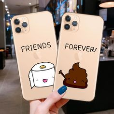 Best Friends Forever Cartoon BFF Phone Case For Coque Iphone 11 Pro XS Max XR X 8 7 6 6S Plus SE 2020 Soft Silicone Cover Cases|Fitted Cases|