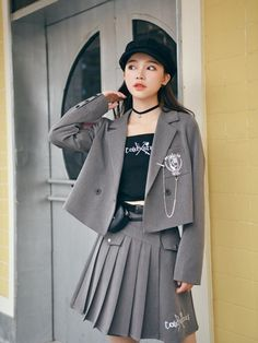 Teen Fashion Outfits, Cute Fashion, Cool Outfits, Asian Street Style, Princess Ball Gowns, Korean Girl Fashion, Blouse And Skirt, Kawaii Clothes, Harajuku Fashion