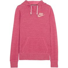 Nike Gym Vintage cotton-blend jersey hooded top found on Polyvore