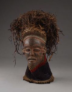 "Africa | Mask ""mwana pwo"" from the Chokwe people of DR Congo 