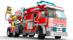 View an image titled 'Fire Truck Art' in our Lego City Undercover art gallery featuring official character designs, concept art, and promo pictures. Ambulance Lego, Lego Police, Lego City Fire Truck, Fire Trucks, Legos, Lego City Undercover, Lego Fire, Truck Art, Lego Birthday