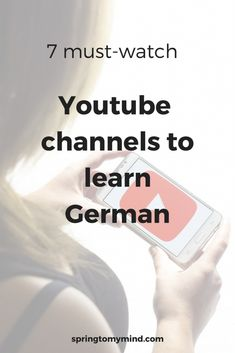 youtube channels for learning German | Learn German on youtube | German learning sources | German for beginners | Learn German | German vocabulary | German grammar