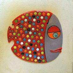 Керамическое панно «Рыба в горошек»