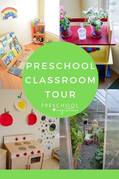 Come take a peek inside the in-home preschool of a veteran teacher! I include elements of Montessori, Reggio, Waldorf, and traditional philosophies to incorporate many different learning styles. Waldorf Preschool, Preschool Garden, Montessori Preschool, Preschool At Home, Preschool Activities, Preschool Classroom Setup, Preschool Schedule, Toddler Classroom, Preschool Decorations