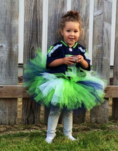 Seahawk Colors Tutu by LilBugabooDesigns on Etsy, $24.00
