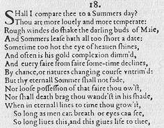 Sonnet 18 original