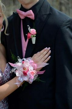 Cymbidium orchid corsage and boutonniere